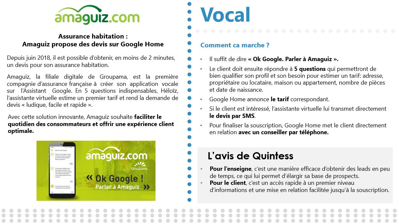 Assurance habitation : Amaguiz propose des devis sur Google Home
